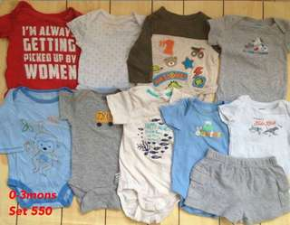 Baby clothes for boy 0-3mons