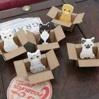 6 Sets Of Kitty And Dog House Sticky Note