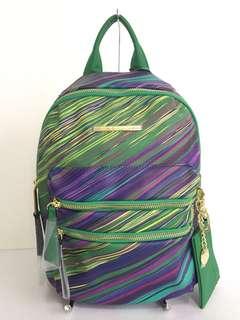 New! Steve Madden Bmidi Prep Green/Multi Backpack Bag
