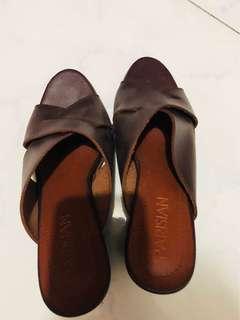 Parisian Brown Block Heels
