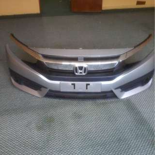 Honda civic bumper with grill