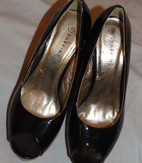 Barkins Brand Peep Toe Wedge Heel Shoes
