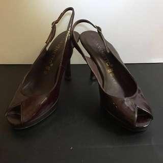 Via Venetto Maroon Sling Back Shoes 👠