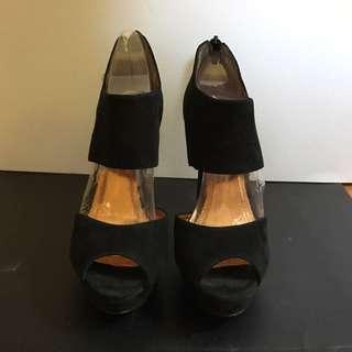 BCBG Black Platform Shoes