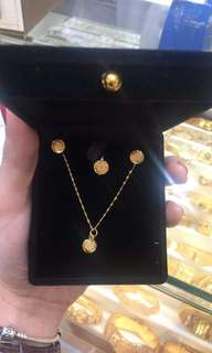 21k Set Authentic gold