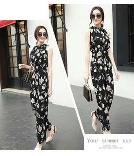 Floral Printed overall / jumpsuit