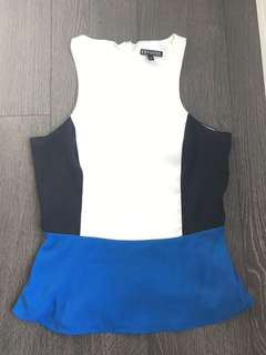 Express color block top size small