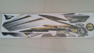 Honda Wave 125 (2) sticker motorcycle motorsikal Black Grey Kerabu Hitam