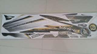 Honda Wave 125 (2) sticker motorcycle motorsikal Black Grey Kerabu Hitam