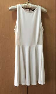 Forever 21 White Dress with Mesh