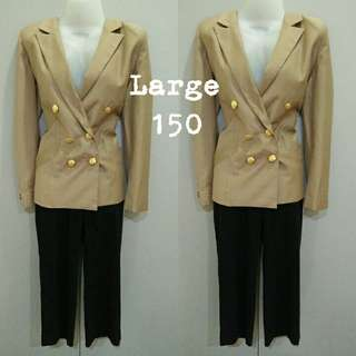 Brown gold button coat ( stored / not used)