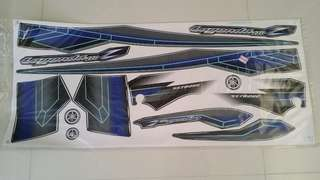 Lagenda 110 Yamaha Sticker Black Dark Blue Grey Biru gelap kerabu Hitam