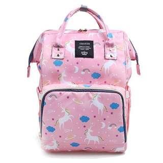 💐Free delivery! Pre-order: Baby Diaper Bag / Mummy Nursing Bag (Pink Unicorn)