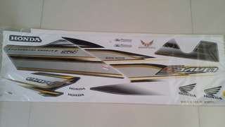 Honda Wave S 125 (3) Black Grey Yellow White  Sticker Motorcycle Motorsikal