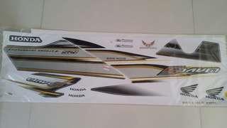 Honda Wave S 125 (3) Black Grey Yellow White  Sticker Motorcycle Motorsikal