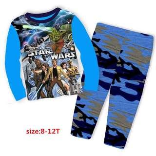 NEW! Older Kids Star Wars PJ Set