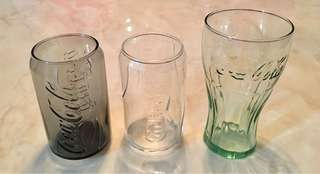 3 pcs collectible Glasses of Coca-Cola & Carlsberg