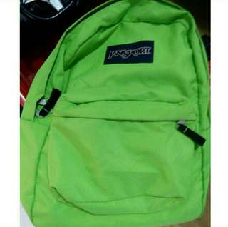 Original Jansport Bag Neon Green