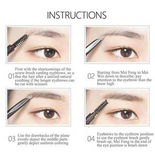 2 in1 eyebrow pwncil brown only