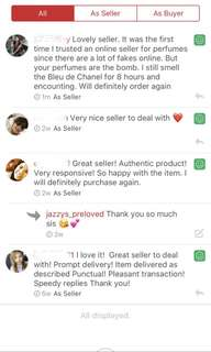 ‼️FEEDBACK‼️ Thank you so much loviees for trusting Jazzy's Preloved god bless you all 😘💕