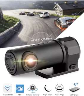 Ready Stock Wifi Mini Car Camera - Link to Smartphone, Motion/Vibration Detection, Loop Recording