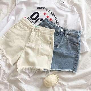 牛仔短褲S號