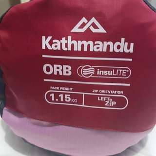 Kathmandu Orb V2 Kids-Youth Sleeping Bag Pink