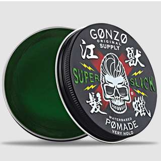 2@34$ +FREE PERFUME +FREE DOORSTEP DELIVERY[GONZO SUPER SLICK POMADE STRONGHOLD WATERBASED]