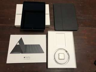 iPad Pro 12.9 128GB Cellular LTE Space Gray with Brand New Smart Keyboard!!