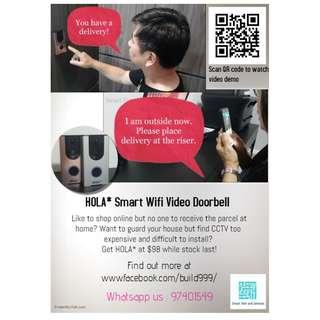 HOLA* Smart Wireless Wifi Video Door Bell