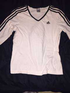 Adidas white and black long sleeve