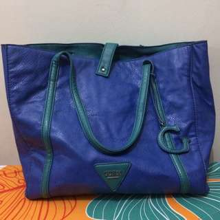 Preloved Guess Blue Tote Bag