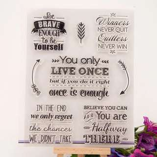 Fancy Quotes Clear Planner Stamp
