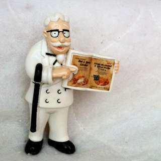 Rare - Colonel Sanders Figure dengan buku - KFC