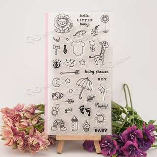 Baby Shower Clear Planner Stamp
