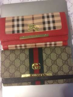 Gucci & Burberry clutch wallet