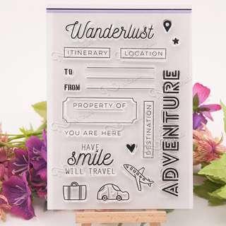 Travel Adventure Clear Planner Stamp