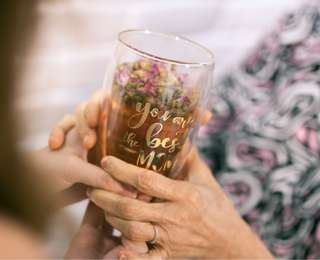 Personalized double wall glass tumbler (Mother's Day gift)