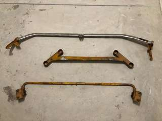 Honda GE6/8 - Buy front strut and antiroll bar, free 4-point brace