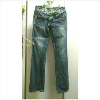 🚚 L~XL牛仔喇叭褲