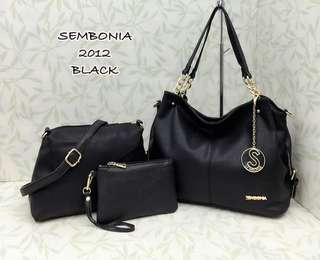 Sembonia Bag 3 in 1 Black Color