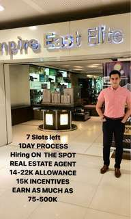 HIRING REAL ESTATE AGENT 14–22K ALLOWANCE
