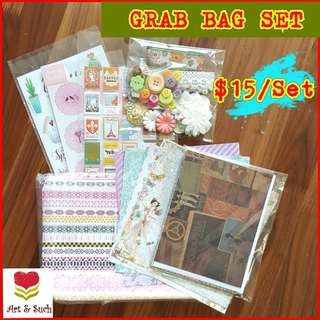Scrapbook Supplies. GRAB BAG SET