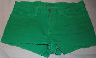 Friendoemine Green Denim Shorts