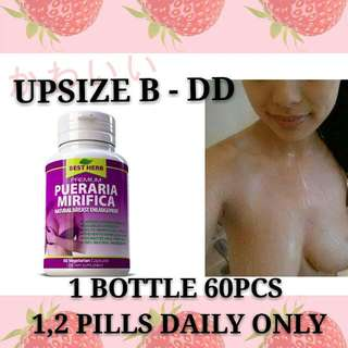 ♡♡ READY STOCK  ♡ 100% Pure Pueraria Mirifica ♡ Suitable vegetarian n muslim ♡ bust breast enlargement boost ♡ powerful estrogen ♡ 100% Natural ♡ Safe to take ♡ Improve n firm saggy bust ♡ Get to S shape ♡ student can take ♡ helps Puberty n  Menopause ♡