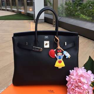 ❌SOLD!❌ Save about 7k!⚡️ Hermes Birkin 35 in Black Epsom Leather PHW.