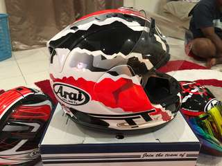 fullface arai rx7 rr5 special edition mick dohan