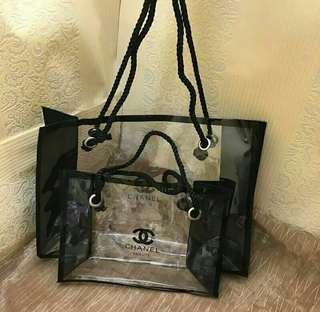 Chanel Transparant Medium Cosmetic Bag