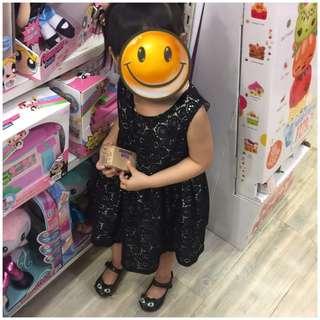 VGUC black lace dress 3T