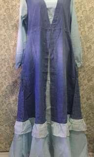 JEANS WASH MAXI DRESS